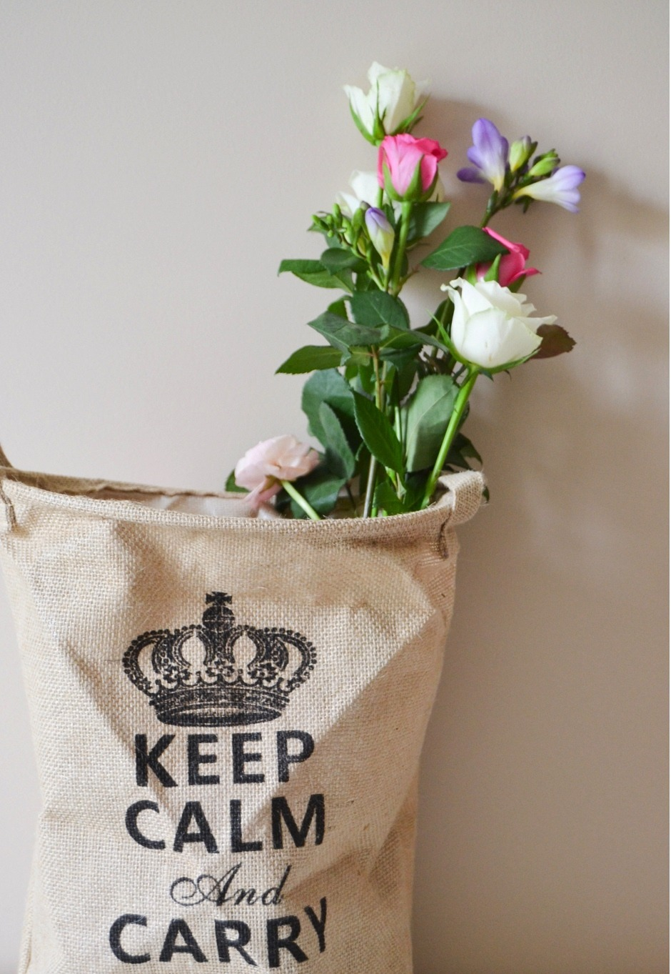panier déco keep calm and carry on