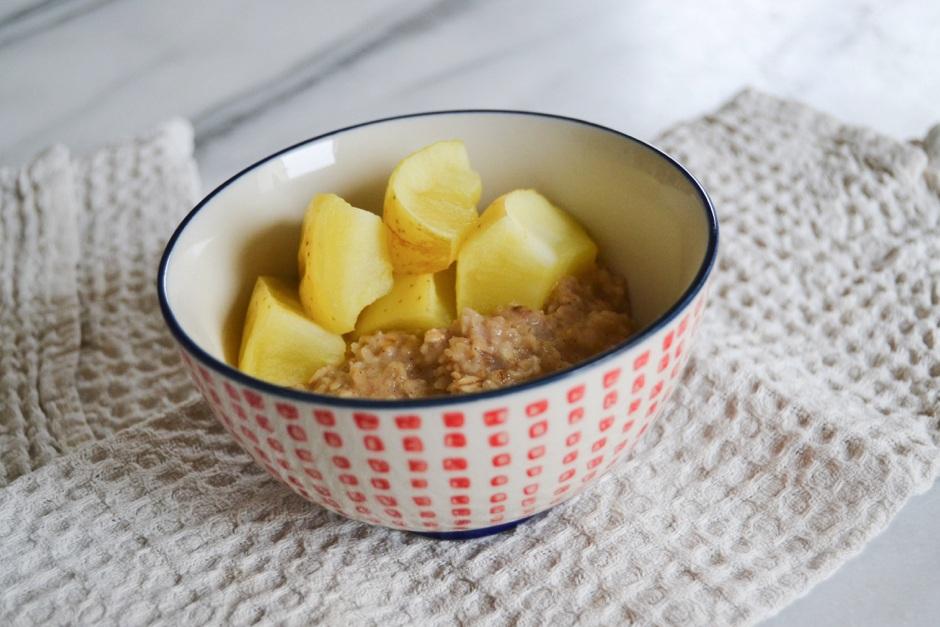 recette porridge miel cannelle pomme 2