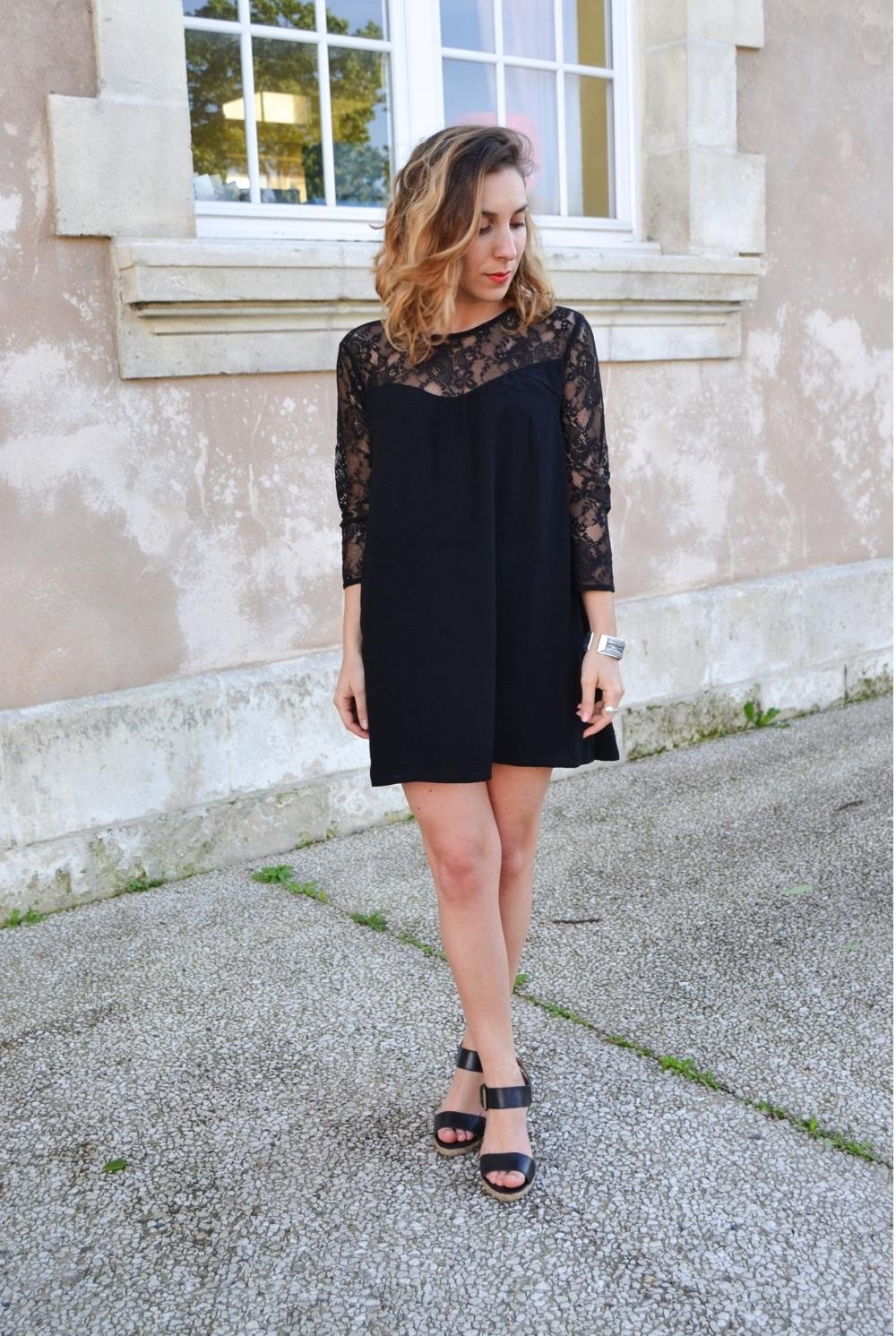 Robe noire sheinside 5