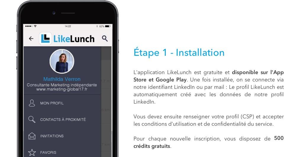 LikeLunch - étape 1