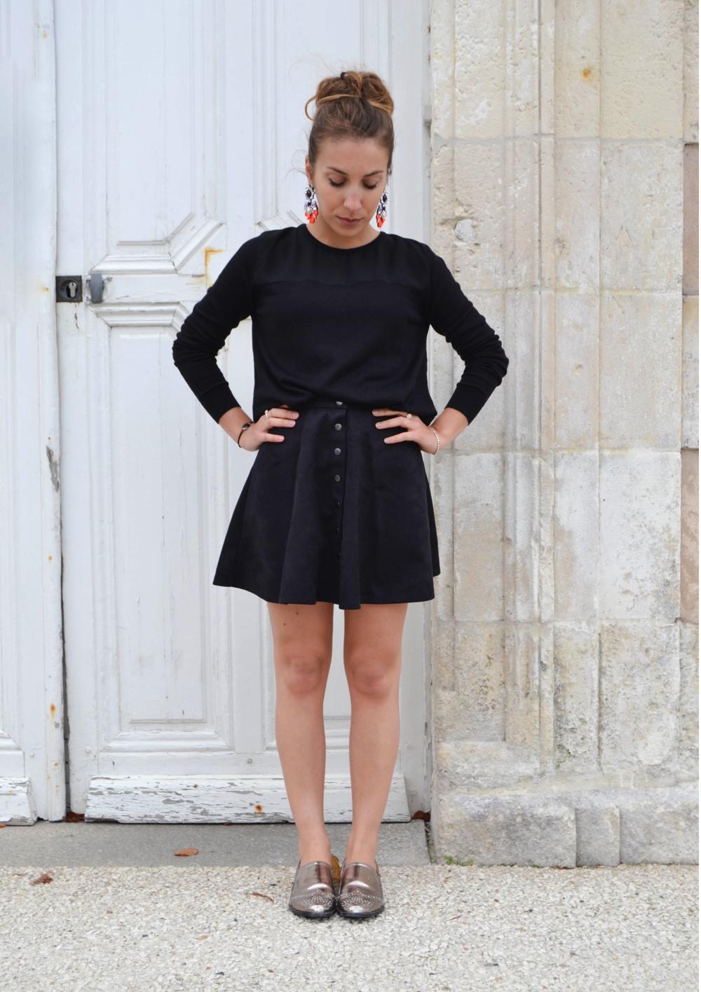 jupe suedine noire 3