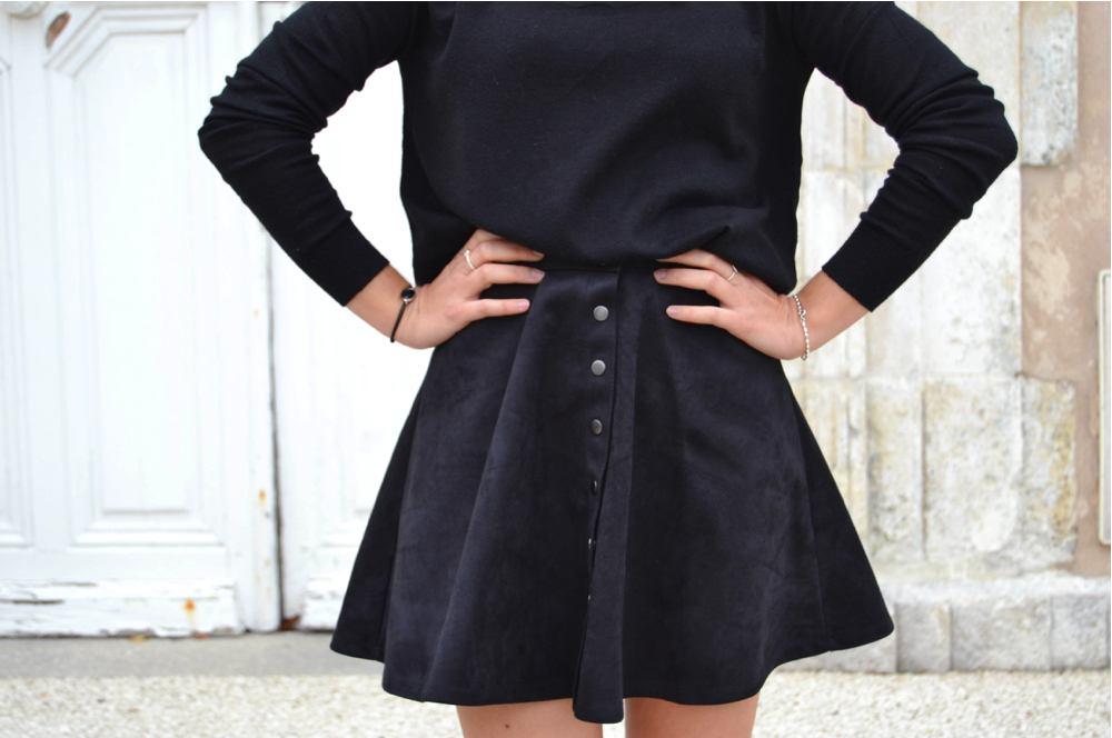 jupe suedine noire 9