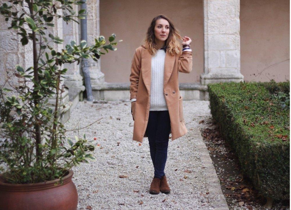 Manteau long beige sheinside chemise jean 9
