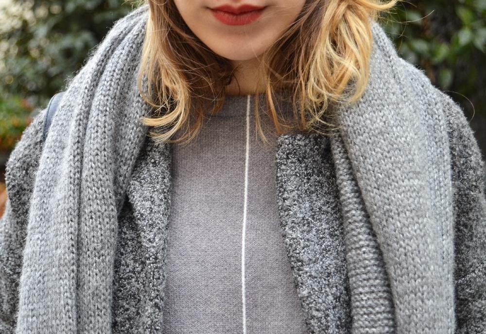 bonnet gris pull gris sheinside 6