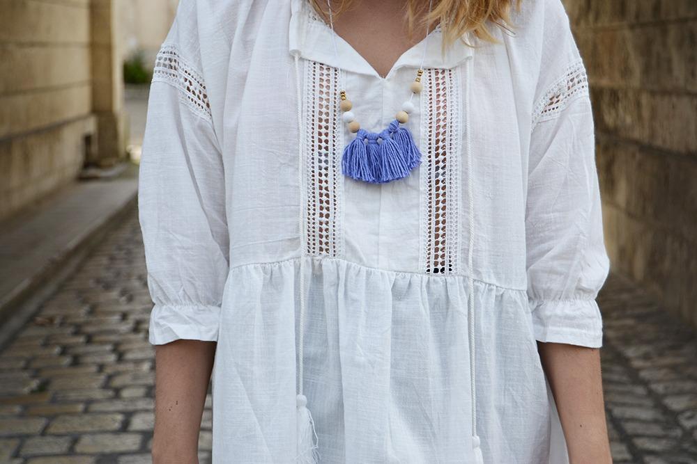 Robe blanche boheme Sheinside 5