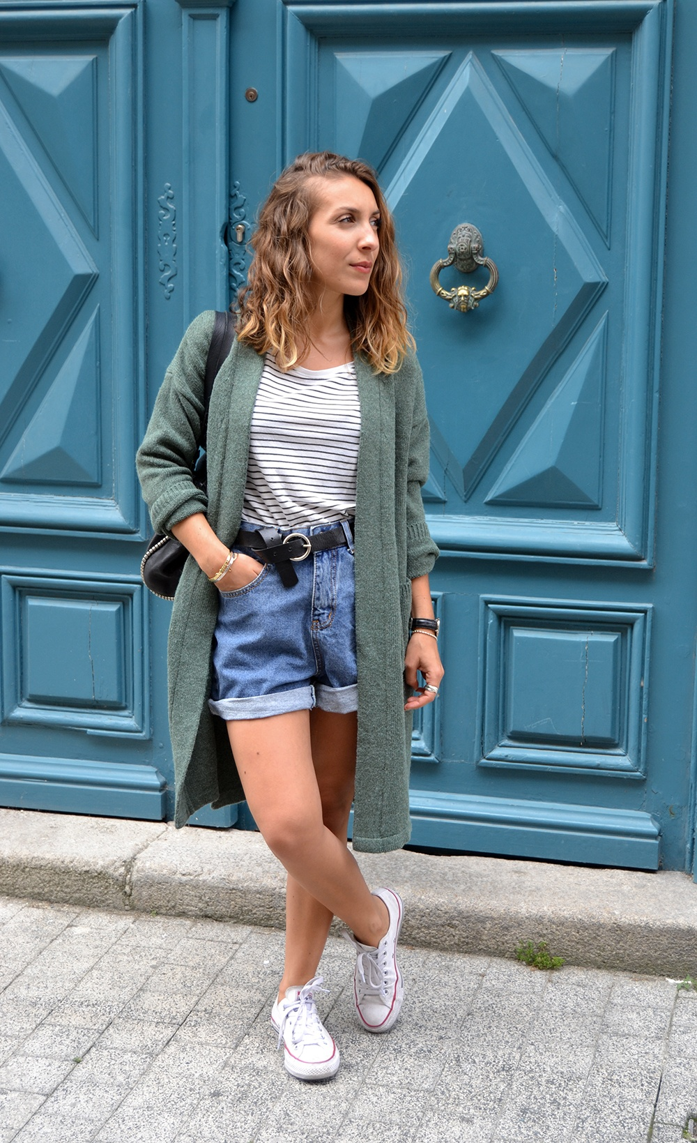 Short-jean-shein-gilet-long-2