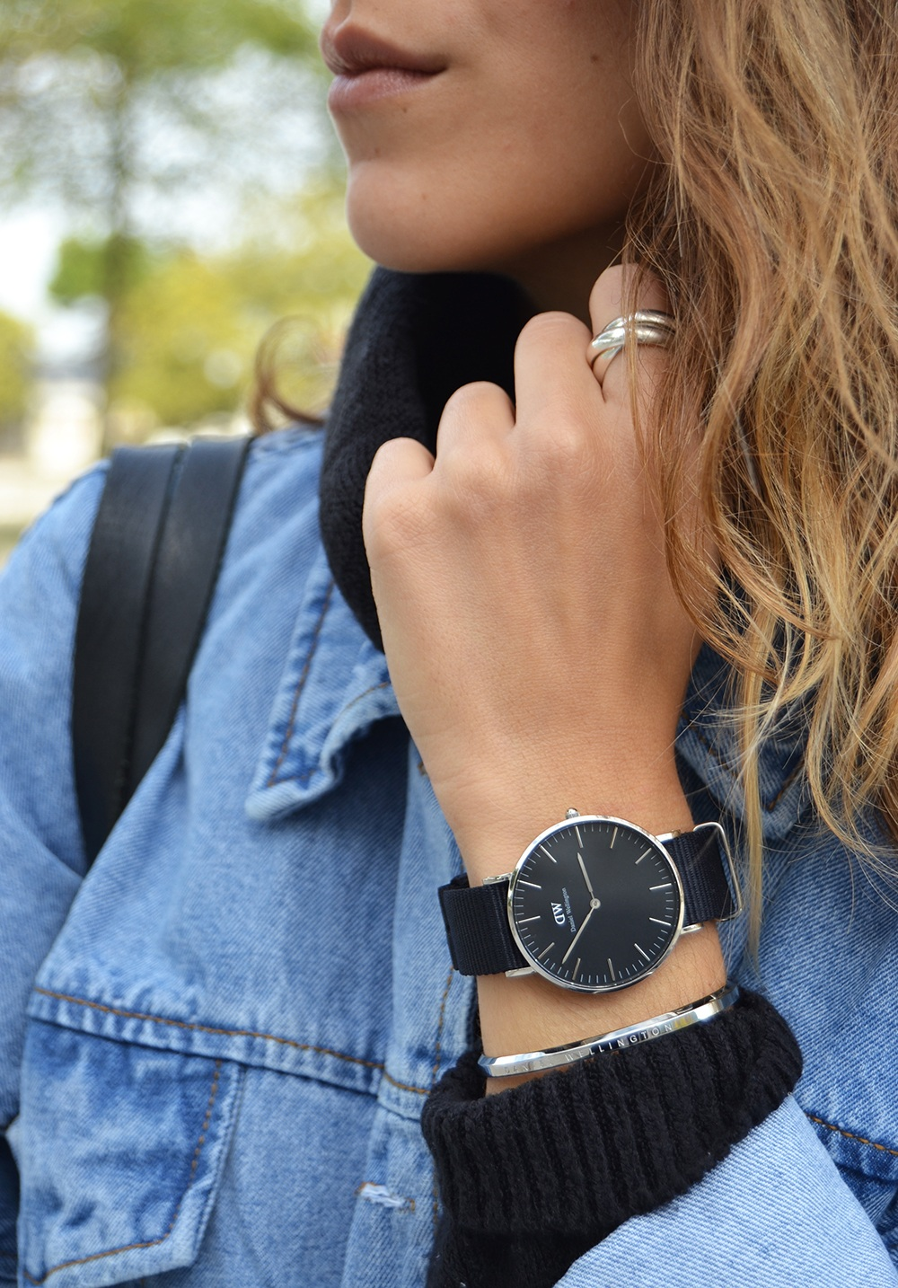 veste-denim-old-school-shein-montre-classic-black-daniel-wellington-7