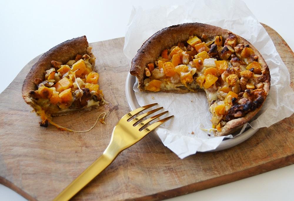 tarte vegetarienne potimarron mozarella noix