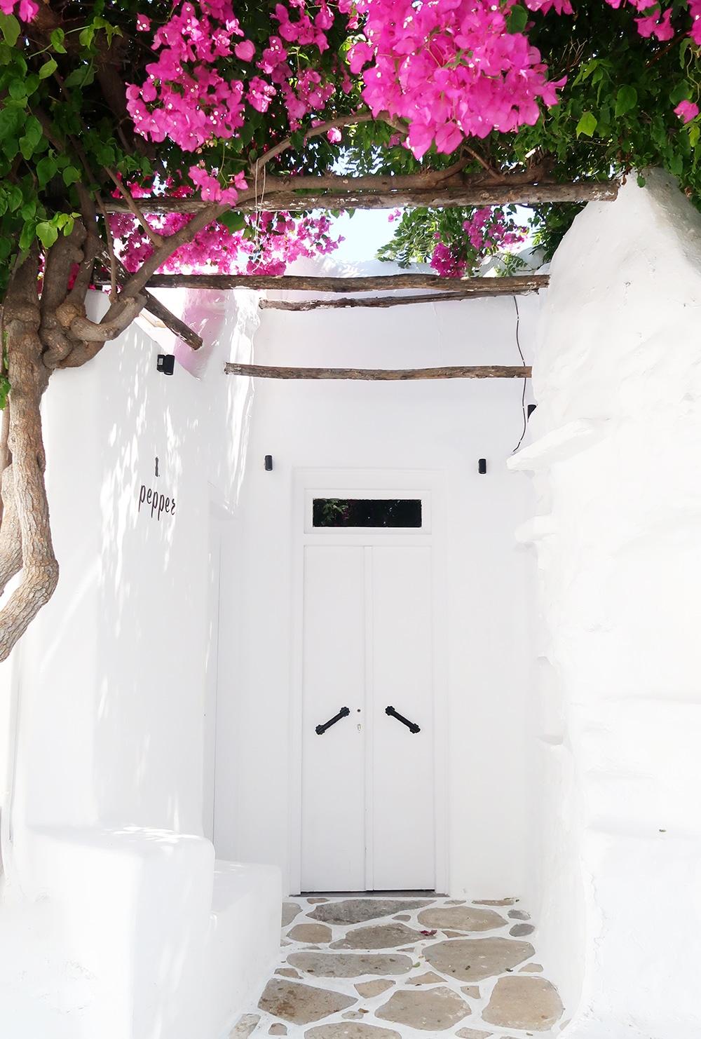 deco mykonos bougainviller grece
