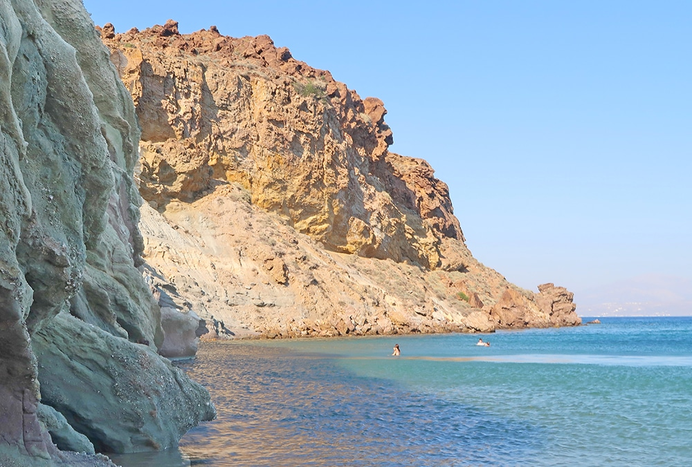 kalogeros plage argile grece