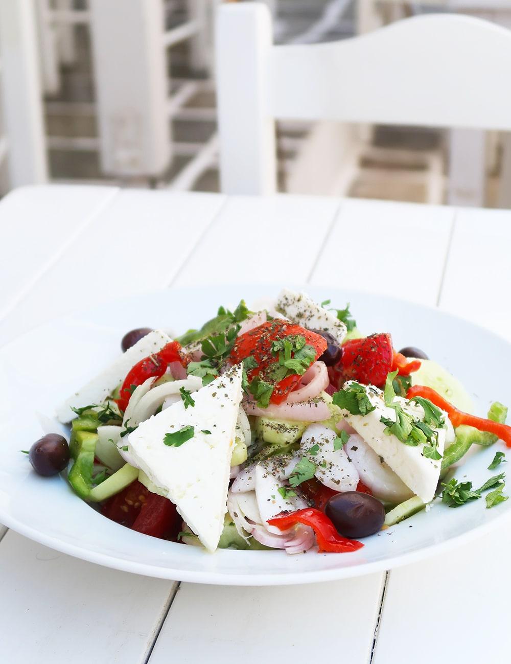 antiparros salade grecque grece