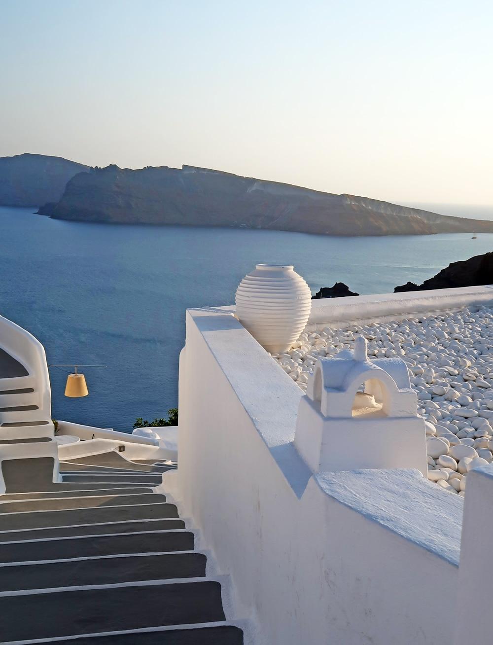 coucher de soleil Oia santorin grece