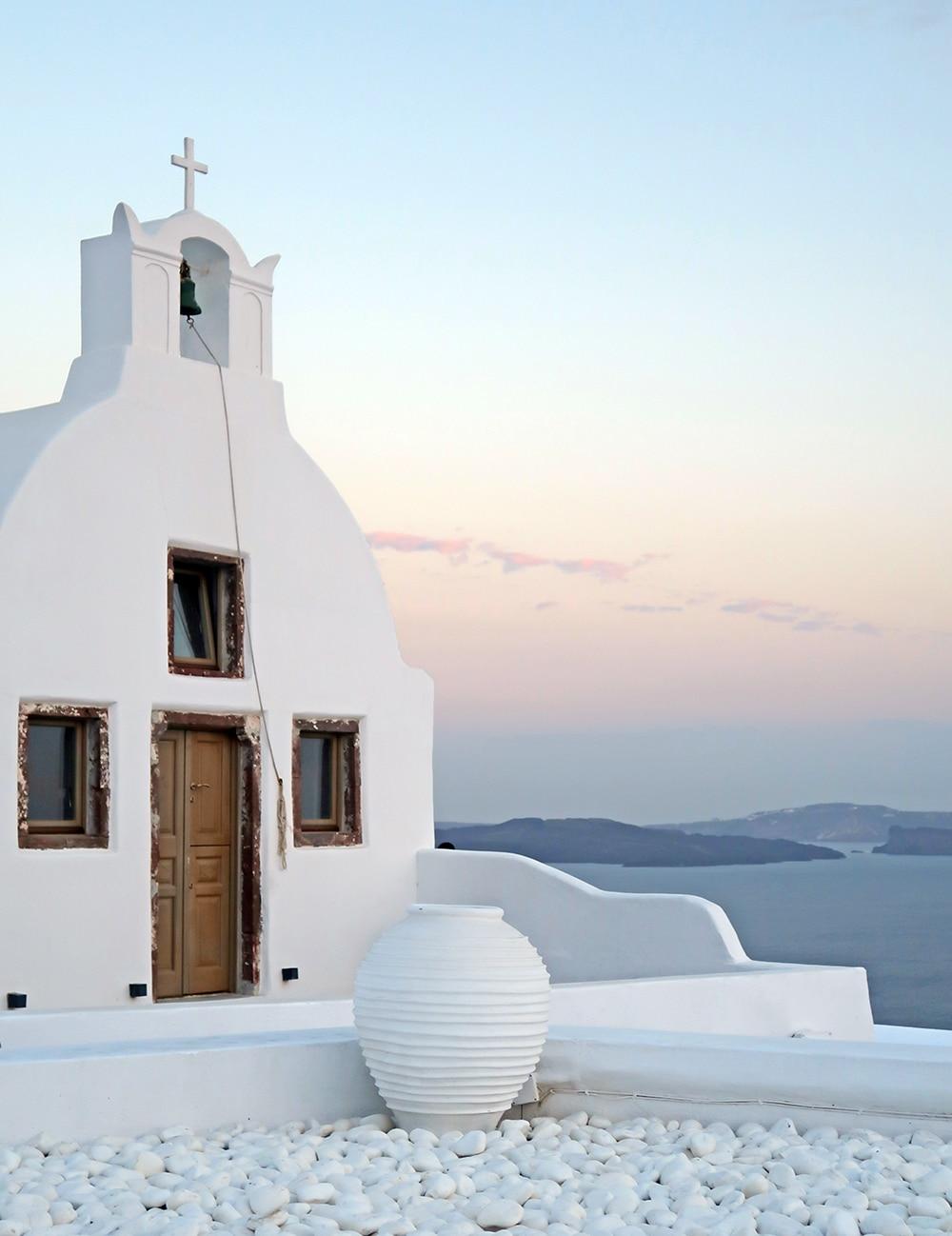 eglise santorin caldera grece