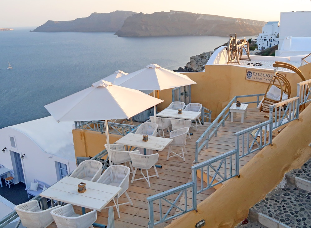 restaurant caldera santorin grece