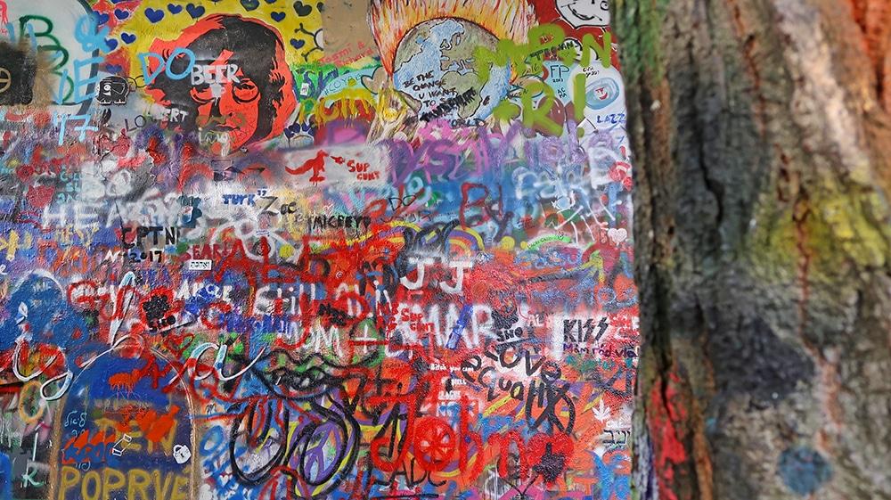 wall john lenon voyage Prague republique tcheque europe