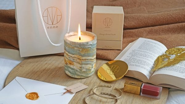 bougie enne candles marbre cire naturelle