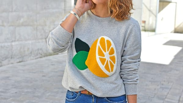 sweat Opulence paris citron Soeurs Chiffons La Rochelle keds espadrilles