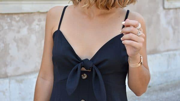 petite robe noire noeud shein
