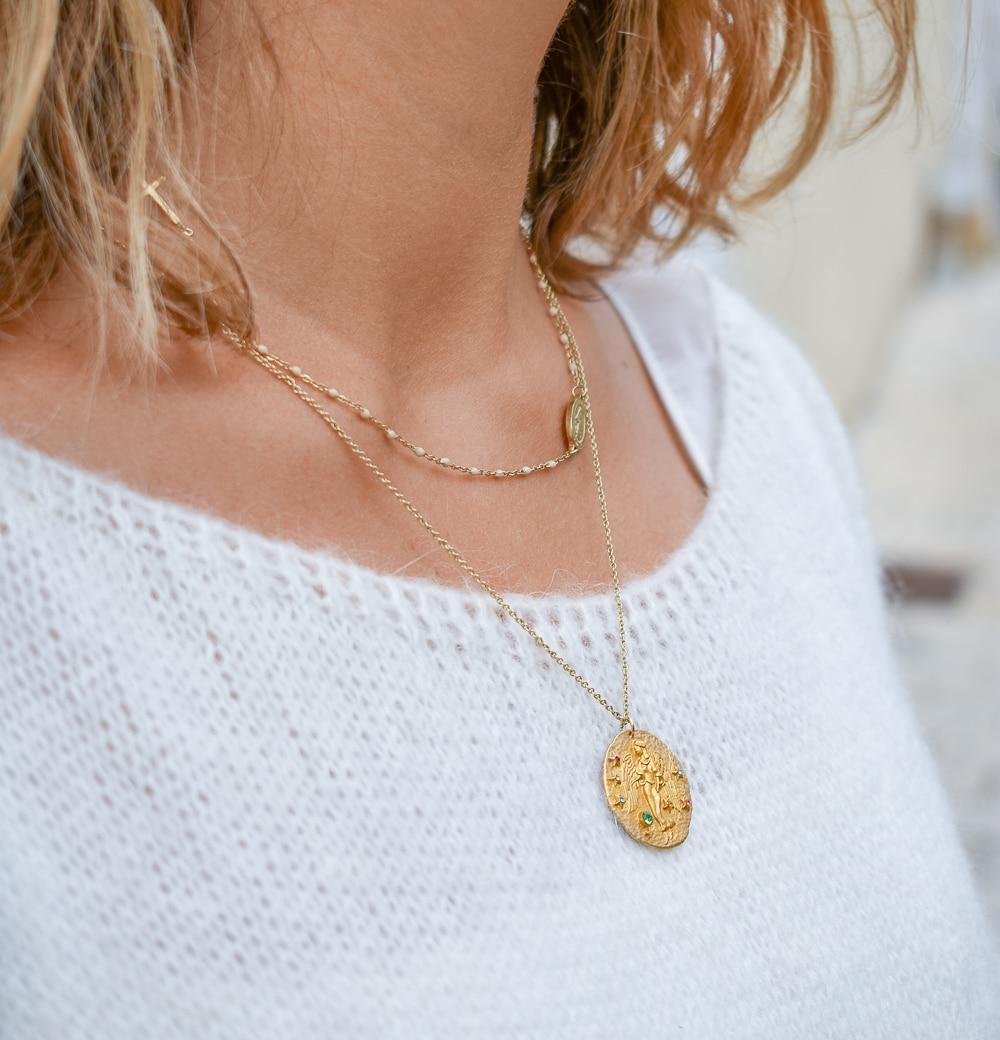 bijoux accumulation maje medaille astro