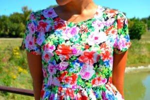 robe fleur couronne tresse