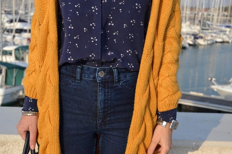 gilet long jaune chemise etoiles