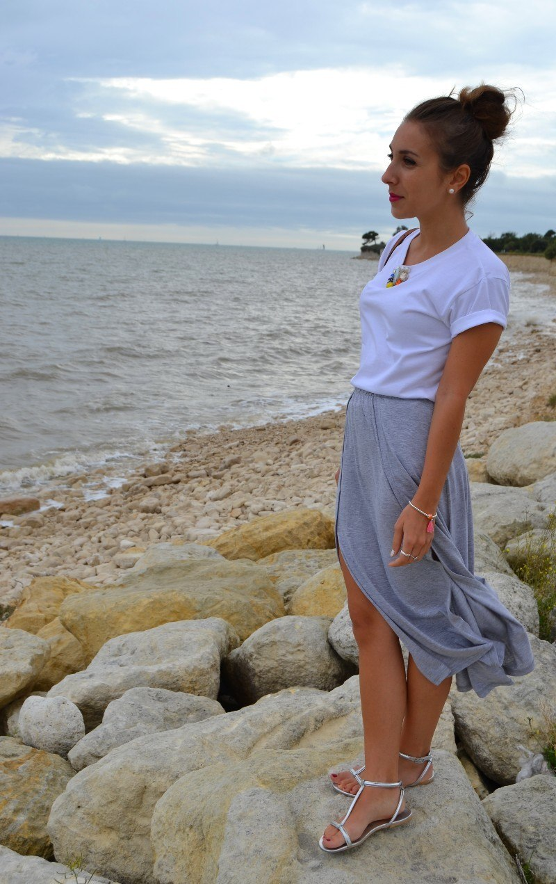 coeur clothing gems jupe midi grise 6ks _ E 8