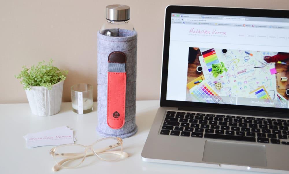 bouteille en verre ecologique EQUA