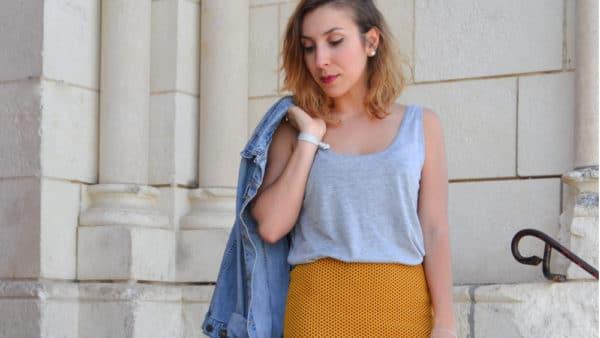 jupe crayon wax