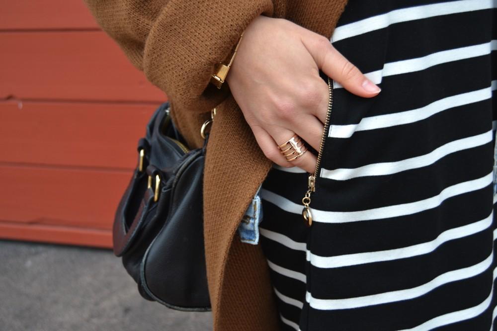 robe mariniere noire gros gilet sheinside 4