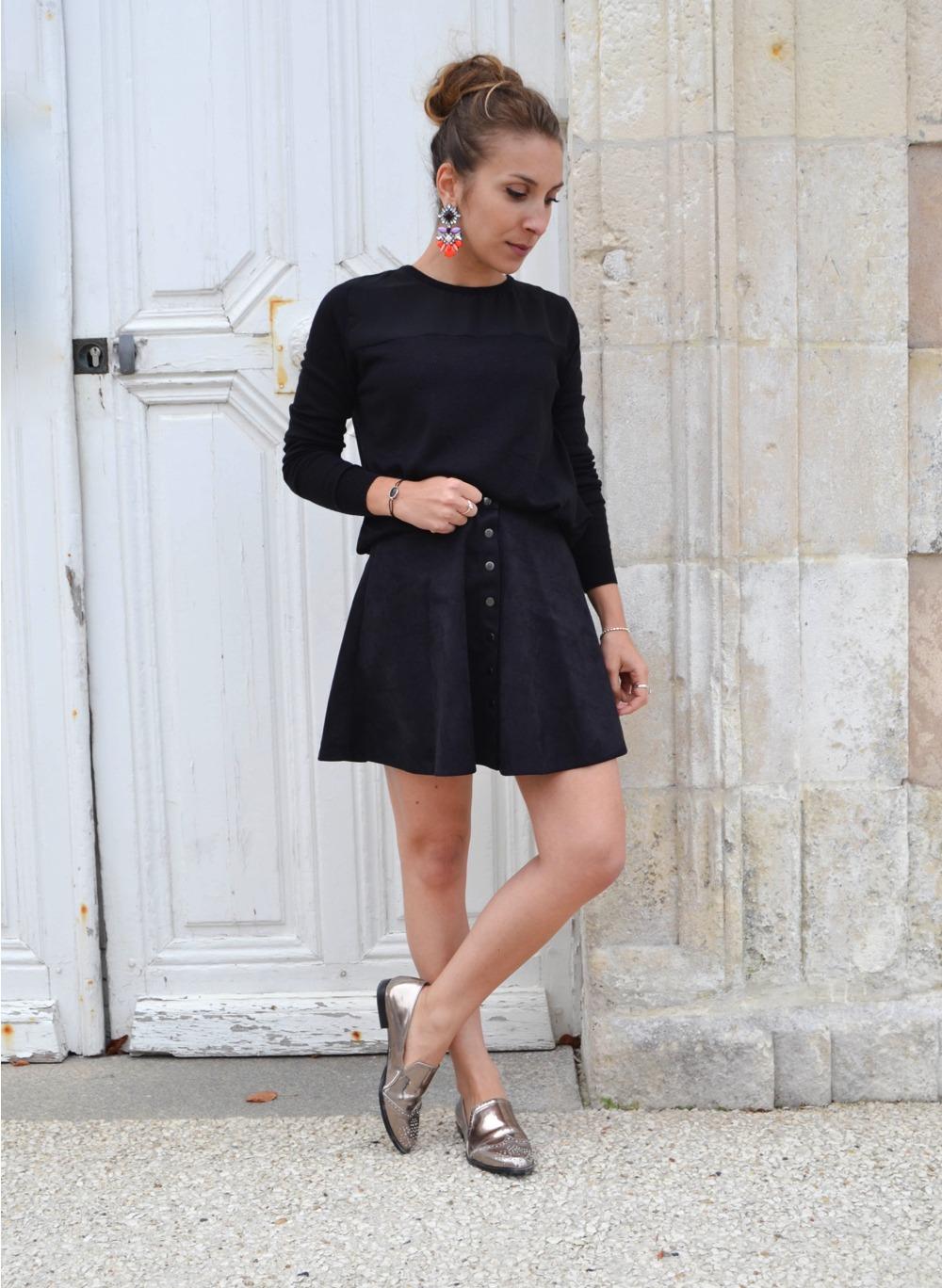 jupe suedine noire 7