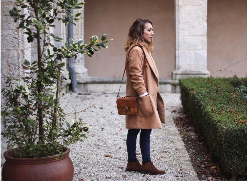 Manteau long beige sheinside chemise jean 5