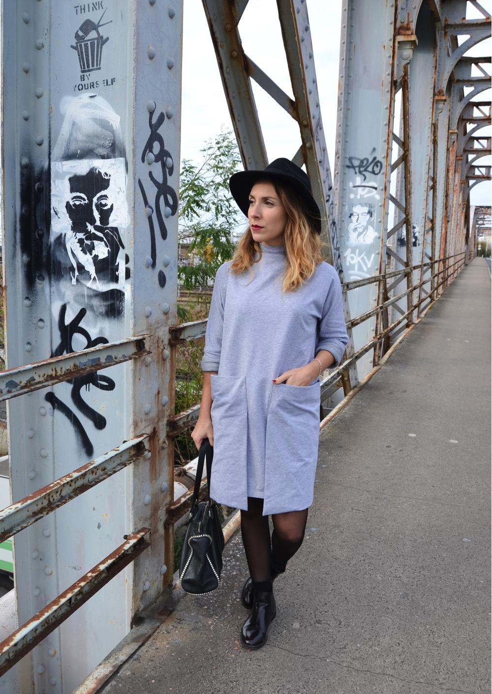Robe grise avec poches devant SheIn 2