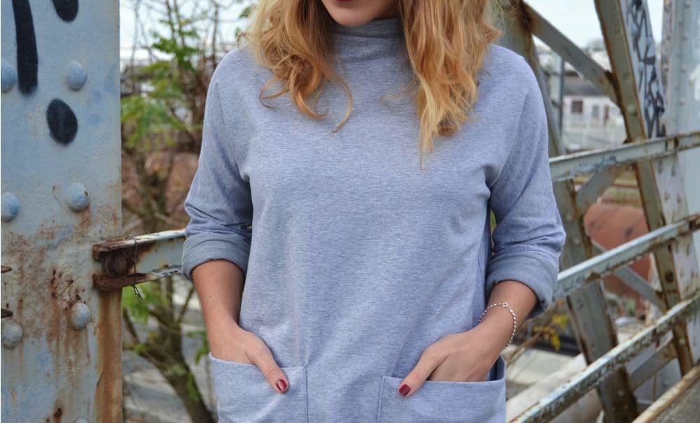 robe design grise poche xl