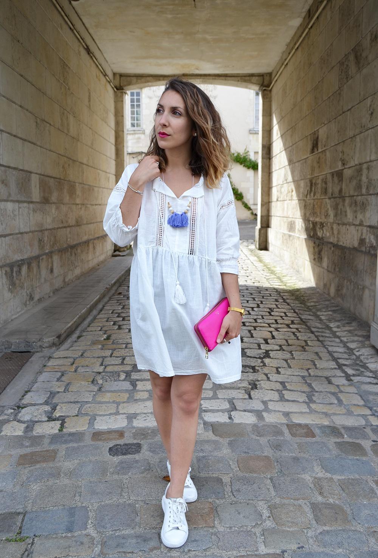 Robe blanche boheme Sheinside 4