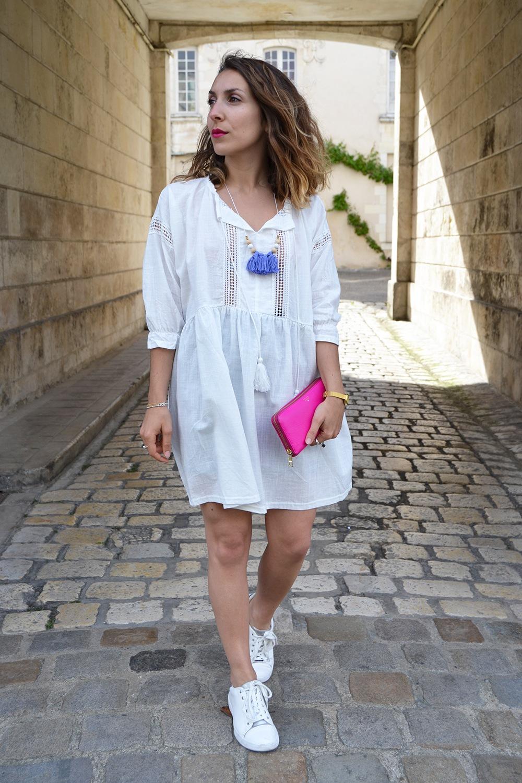 Robe blanche boheme Sheinside 9