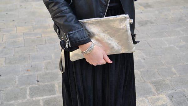 robe velours noire longue