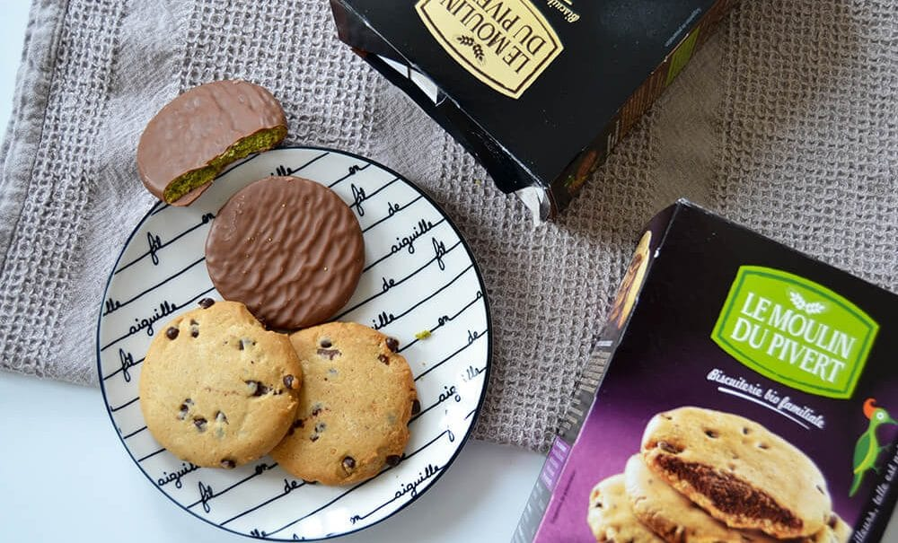 le moulin pie vert biscuits bio matcha chocolat