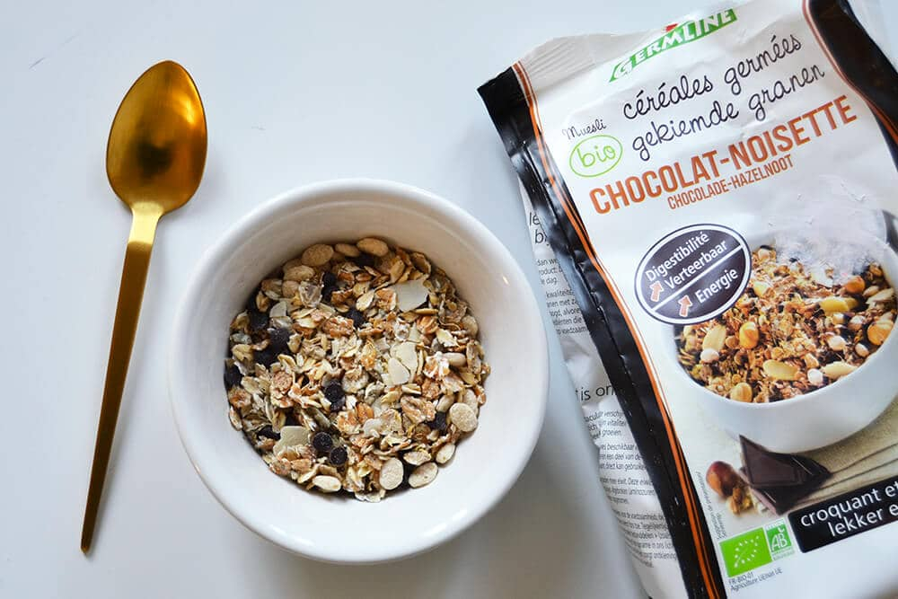 muesli melange cereales germees chocolat