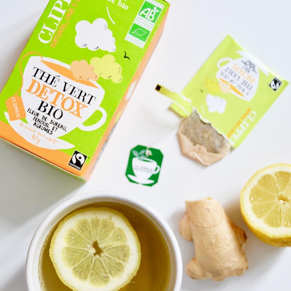 the vert agrumes fenouil fleur de sureau clippers tea