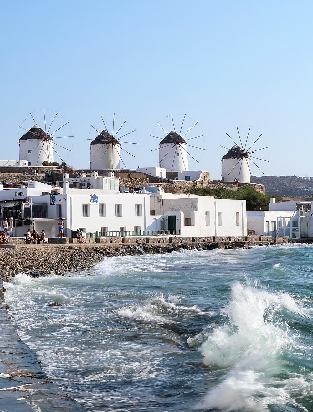 moulins à vent mykonos chora