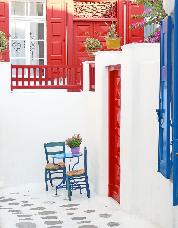 mykonos Hora rues grece