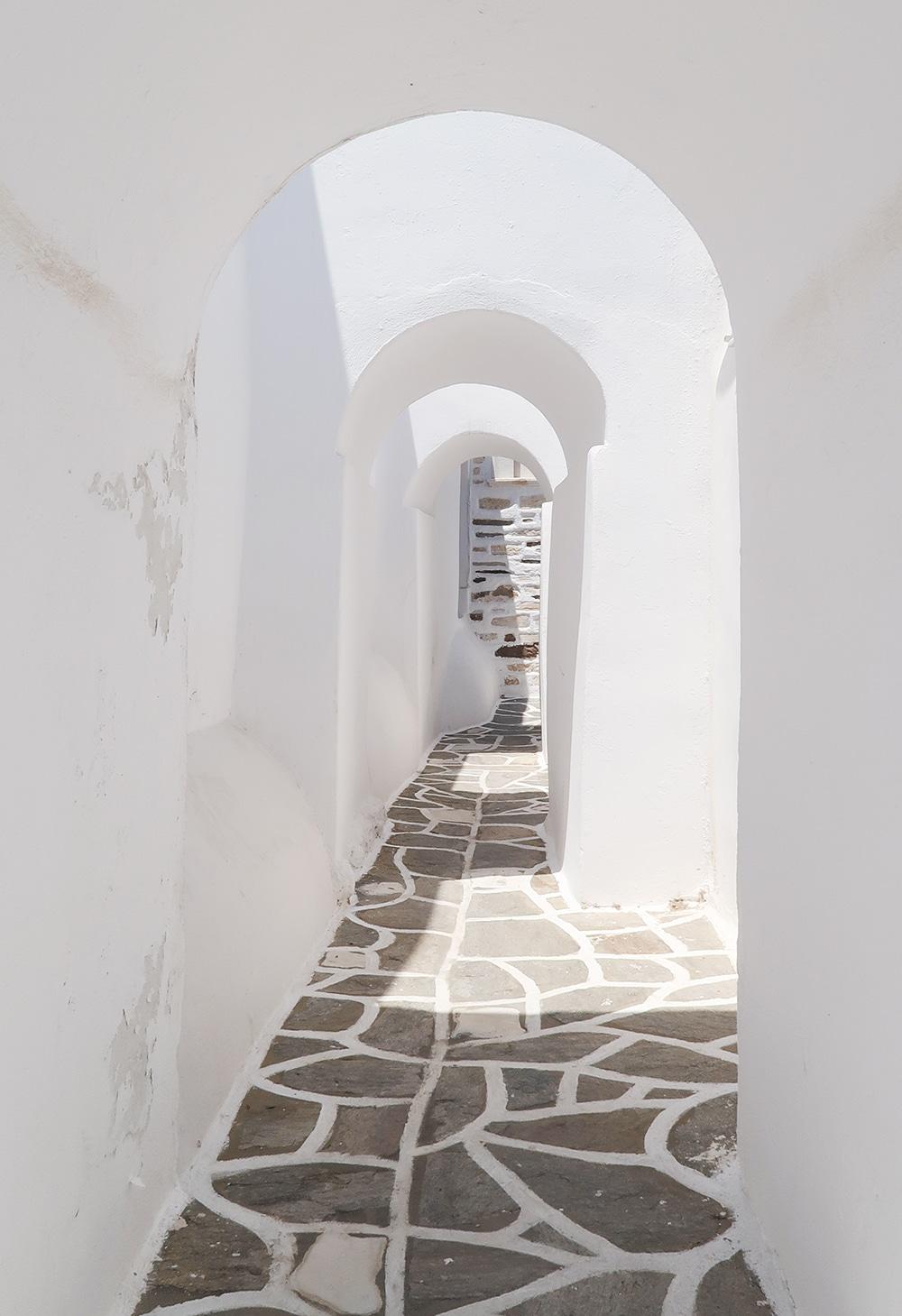 blanc grece pierre