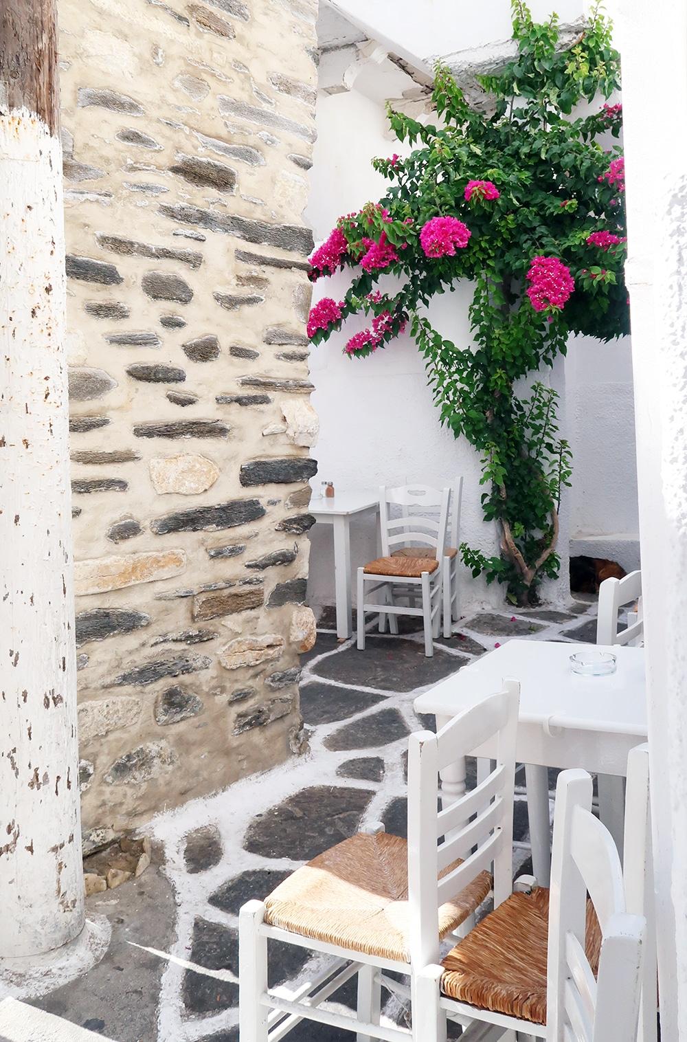 paros naoussa café grece