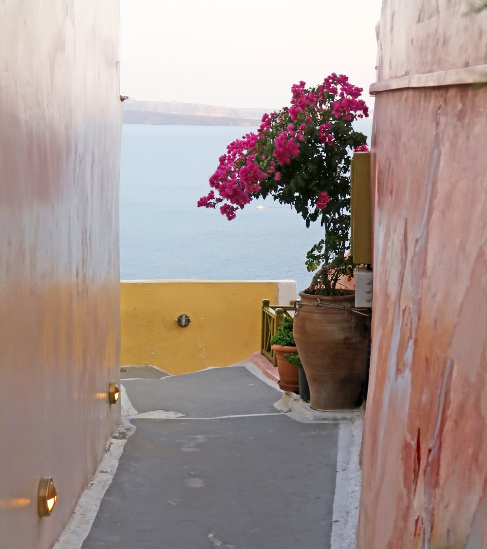 santorin grece ocre orange