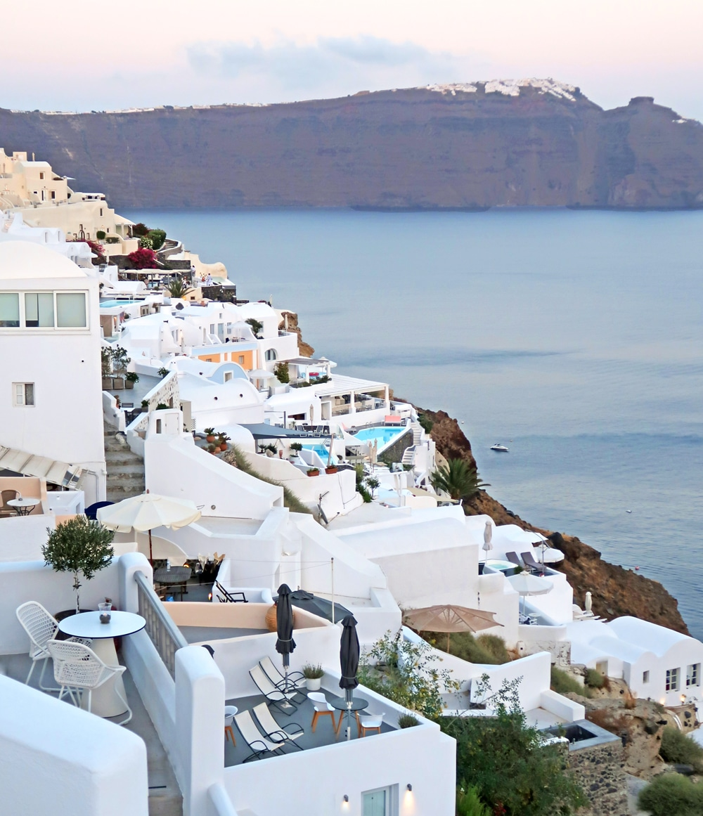 caldera santorin grece
