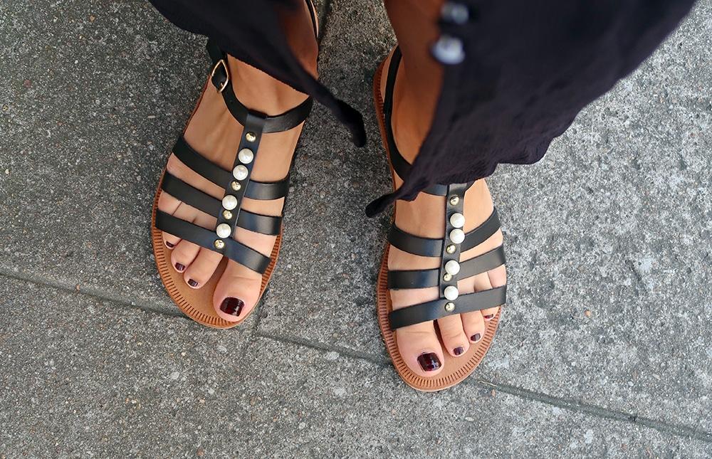 sandales perles