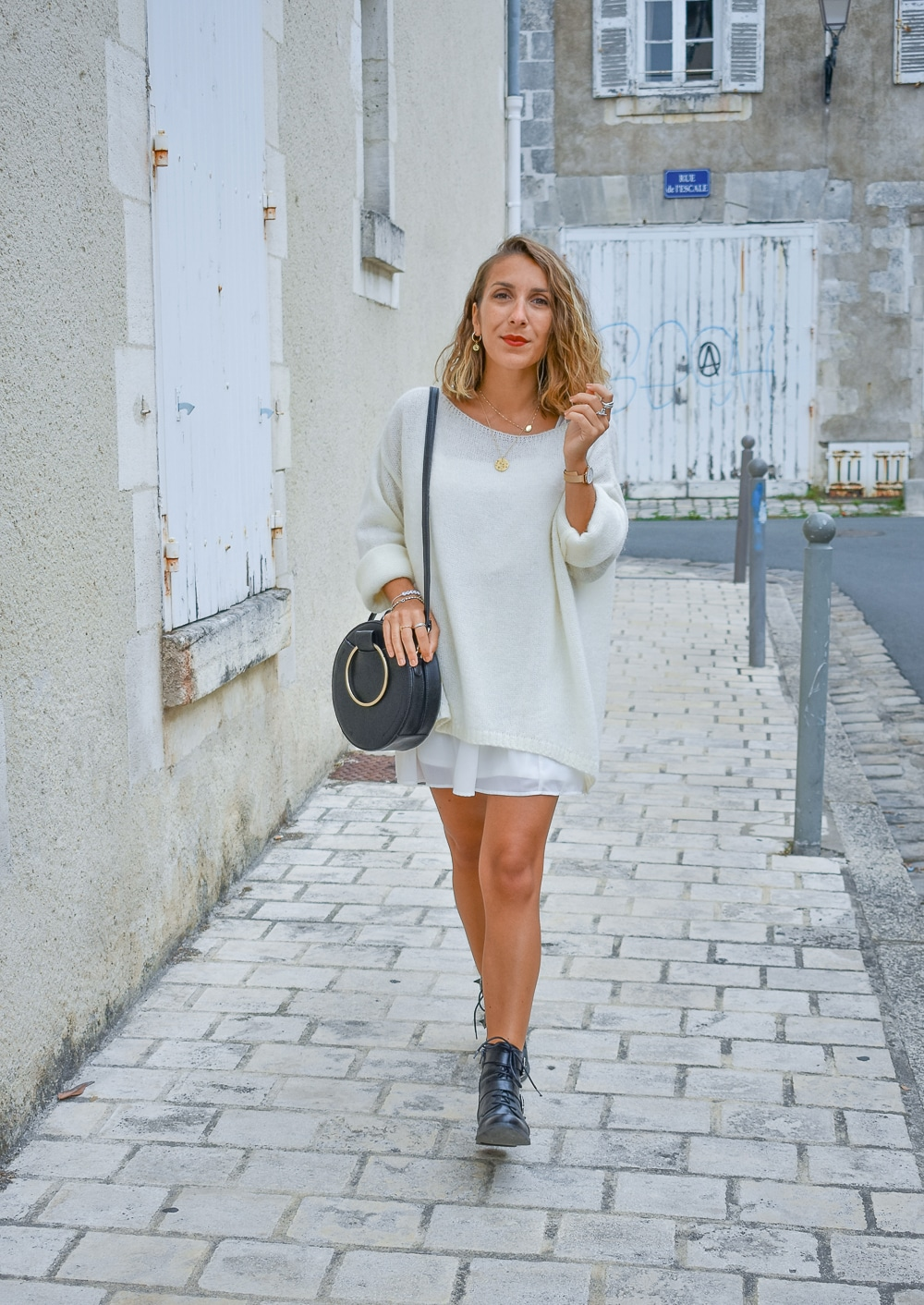total look blanc rock
