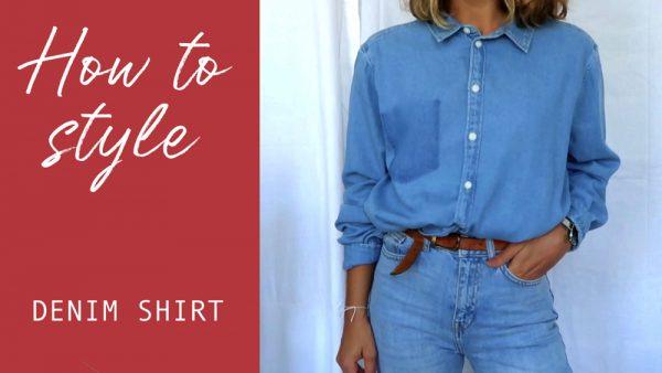 comment porter chemise en jean lookbook chemise jean