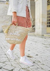 veste jean blanch shein jupe fleurie panier la rochelle original marrakech maison orso converses blanches