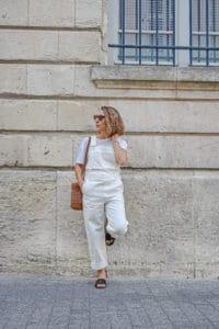 salopette blanche jean denim dungaree NAKD